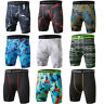 Mens Compression Shorts Workout Sports Boxer Briefs Activewear Camouflage Trunks