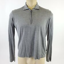 Hugo Boss Men's Gray Long Sleeve Casual 1/4 Zip Collared Light Pullover Size S