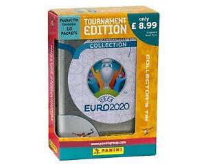 UEFA Euro 2020 Tournament Edition Sticker Collection Pocket TIN