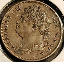1826 British (1) Farthing George lV Draped Bust - Copper