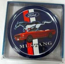 121686 FORD MUSTANG RED CONVERTABLE DISPLAY COLLECTORS PLATE WITH STAND