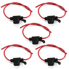 5 Pcs 30A In-line Blade Small Fuse Holder for Car Boat Truck Auto 16 AWG Cable
