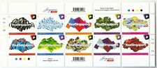 SINGAPORE 2011 GREETINGS FROM YOUR SINGAPORE SHEETLET OF 10 STAMPS IN MINT MNH