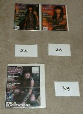 LOT OF 51 - XENA WARRIOR PRINCESS OFFICIAL MAGAZINE - BOUGHT NEW AND BAGGED