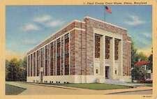 Elkton Maryland Cecil Court House Street View Antique Postcard K61737