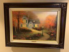 """Thomas Kinkade The Blessings of Autumn """"Blessings Of The Seasons I"""" Framed"""