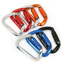 Safety Screw Lock Carabiner Rock Climbing Rappel Rescue Gear Equipment 25KN