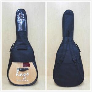 "4/4 Haze Partial Clear Top Acoustic Guitar Soft Bag,Waterproof,Black |ABD 42""B2|"