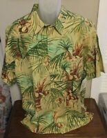 Joe Marlin Full Moon ISLAND PRINT Shirt Size Large or XXL NWT