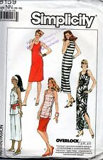 1980s Simplicity Sewing Pattern 8159 Misses' Easy to Sew Dress Skirt Top 10-14