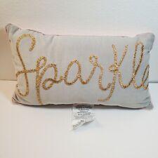 "Pillowfort Sparkle Throw Pillow 20""x12"" Gray & Pink"