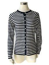 Damen RH-Strickjacke aus Seide+Elasthan,Gr.M/38,Fb.marine/ecru,Räumungsverkauf