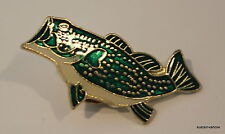 Bass Fish Lapel Hat Pin Sport man Tie tack Fisherman