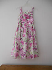 GIRL'S SIZE 14  SLEEVELESS PINK/PURPLE FLORAL DRESS BY YOUNGLAND  EUC