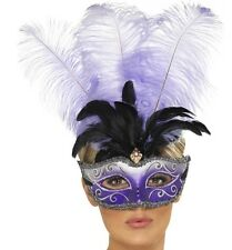 Masquerade Ball Eyemask Party Prom Fancy Dress Eye Mask Colombina Purple Smiffys