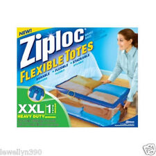 Ziploc (5 PACK) JUMBO 22 Gal XXL Heavy Duty FLEXIBLE StorageTotes Ziplock NEW!