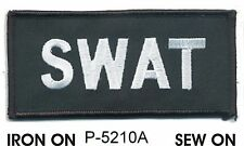 "2"" x 4.5"" Tactical Black SWAT Embroidered Patch Iron On"