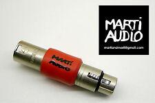 PRO IN-LINE MIC Preamp Booster XLR BARILE PER MICROFONO DINAMICO Nastro Tubo
