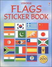 Usborne Flags Sticker Book (pb)  by Lisa Miles  with 200 stickers NEW