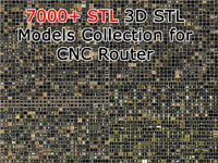 7000+ STL 3D STL Models Collection for CNC Router Carving Machine Printer Relief