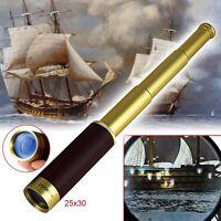 25x30 Pirate Zoom Mini Portable Glimmer Monocular Telescope For Camping Hunting