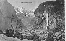 LAUTERBRUNNEN BERN SWITZERLAND TO USA WATERFALL POSTCARD 1909