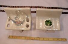 Glossy Almond; Sink Set…Ceramic Soap Dish...Cup & Toothbrush holder  New Stock