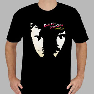 New Hall and Oates Private Eyes Men's Black T-Shirt Size S to 3XL Free Ship