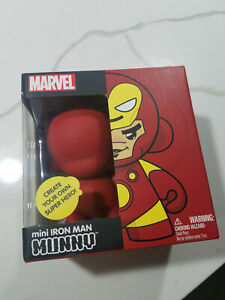 "Kidrobot UNOPENED Marvel 4"" Mini Munny IRON MAN DIY VINYL FIGURE"
