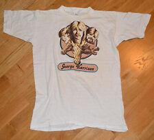 RaRe *1970's GEORGE HARRISON* vtg concert shirt (M) Beatles Dark Horse Records