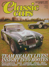 Classic Cars 09/1988 featuring Chevrolet Corvette, Healey, Sunbeam, Riley, Ford
