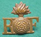 RF ~ Royal Fusiliers ~ Brass Shoulder Title Badge