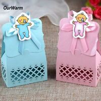 12Pcs Sweet Favour Candy Box Gift Bag for Baby Shower Birthday Party Table Decor