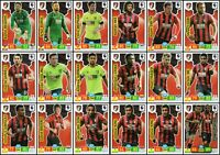 BOURNEMOUTH FULL 18 CARD TEAM SET - PANINI ADRENALYN XL PREMIER LEAGUE 2019/20