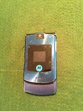 Motorola RAZR Vintage Blue Mobile Flip Phone with Motorola battery for spares