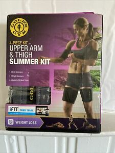 Golds Gym Upper Arm & Thigh SLIMMER KIT 4 Piece Weight Loss Adjustable BRAND NEW