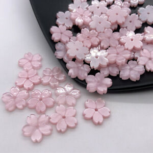 50pcs 12mm Hexapetalous Flowers Loose Spacer Resin Beads for Jewelry Making DIY