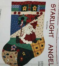 New listing Vip Cranston Angels Christmas Stocking Kit Fabric Panel Patchwork Cotton Makes 2