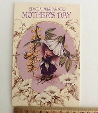 Vintage Victoria Plum Mothers Day Card Scrapping Craft Collage