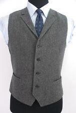 Brooks Brothers Fleece Boys Gray Herringbone Tweed Vest Waistcoat Boys 20