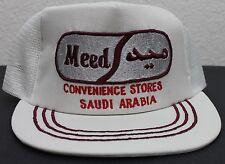 Vintage 80s Saudi Arabian Saudi Arabia Meed Convenience Stores Trucker Hat RARE