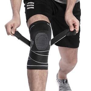 knee support Neoprene patella black elastic brace fastener gym sport UK Seller