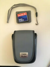 Genuine OEM Canon PowerShot Camera Case and Strap and SanDisk 512MB CompactFlash