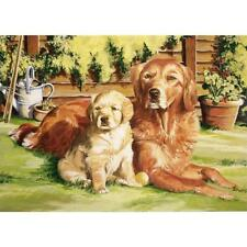 Reeves Paint by Number Kit, 12 by 16-Inch, Dog World, New, Free Shipping
