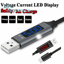Voltage Current Display Type-C/Micro Usb Charging Cable for Samsung Huawei Us