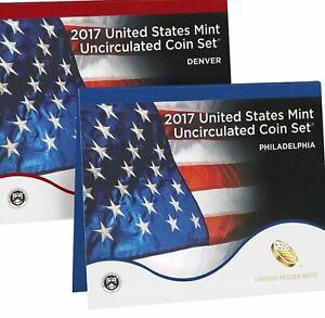 2017 P&D UNCIRCULATED US MINT 20 COIN SET (17RJ) W/ ATB & NA COINS - INBOX
