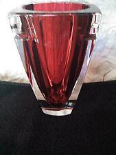 """Waterford Crystal Metra Red Vases - 7"""""""