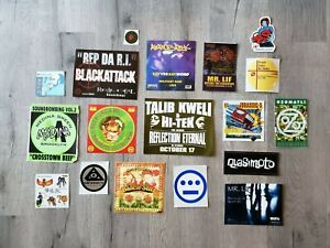Lot of 18 Underground Rap Stickers - Hieroglyphics, Mr Lif, PUTS, Blackstar