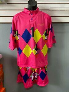 Jorge Campos Soccer Uniform  VINTAGE pink surfer