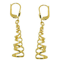 ECHT GOLD *** Spirale Ohrringe Ohrhänger 40 mm